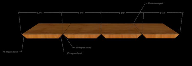 Continuous grain design cuts
