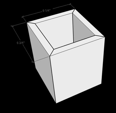 Glue up wooden urn box