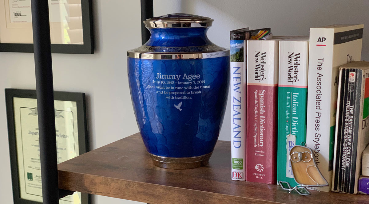 Displaying Cremation Urn at Home
