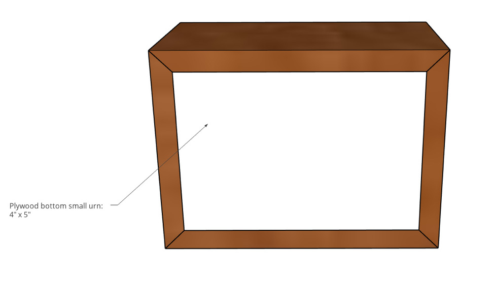 Small Pet Urn Bottom Panel Dimensions