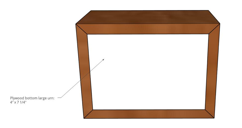 Large Pet Urn Bottom Panel Dimensions